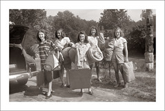 Folder 0012-17 (Steve Given) Tags: socialhistory familyhistory fashion group girls teens teenagers camping