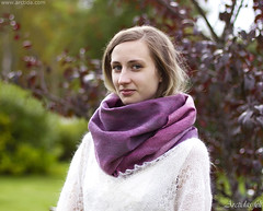 Merino wool scarf for women ombre Pink Purple and Lilac felt scarf (Arctida) Tags: felt felted felting filz nuno merino wool merinoull clothing scarf shawl wrap lilac purple violet pink magenta ombre silk viscose work making handmade handcrafted designer textile artist fibers texture line modern fall autumn spring winter trend time day artisan shop europe scandinavian sweden eco organic everyday wear fashion guide shopping collection classic new natural seamless norrbotten luleå girl woman model countryside village 50mm colors colours green leaves outside farm nature light tree garden people fashionista