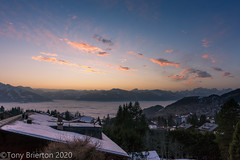 Alpine Sunset. (Tony Brierton) Tags: 23120 alps mountains resort ski snow specialolympics switzerland villarssurollon