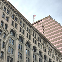 Baltimore MD ~ The Equitable Building (karma (Karen)) Tags: baltimore maryland theequitablebuilding downtown windows flags iphone hww