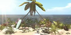 #171 - Paradise (Yvain Vayandar) Tags: sense treschic secondlife sl event landscape decoration beach sea turtles relax quiet calm palm flowers sand swing tmcreation sunny sun