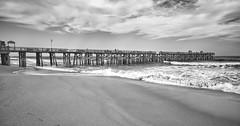 The Longest Pier. Flagger Beach, Florida (Mario & Debbie) Tags: flaggerbeach playa beach ocean water hurricane storm old structure pier florida fishing