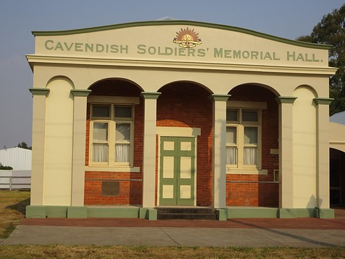 Cavendish. The Soldiers Memorial Hall built in 1924.