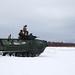 U.S. Marines conduct a live fire range on an Assault Amphibious Vehicle