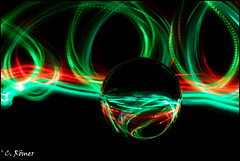 green/red swirls (TheOtherPerspective78) Tags: lensball sphere glass reflection reflections led swirls colors colorful green red stilllife ball theotherperspective78 canon eosm6 revuenon 5014 manualfocus manualfocuslens vintagelens pk pentax lightpainting