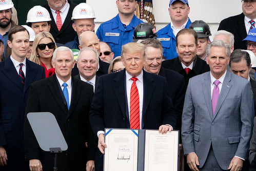 President Trump at the Signing Ceremony by The White House, on Flickr