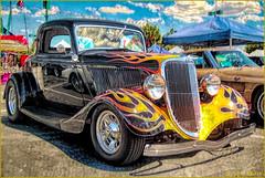 1934 Ford Flames (-Brian Blair-) Tags: ddg ford flame flames hotrod hot rod chrome automobile car auto coupe 1934 metal awardtree hss