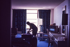 Found Ektachrome Slide (Thomas Hawk) Tags: analog ektachrome kodak kodakektachrome vintage found foundphoto foundslide motel motelroom television fav10 fav25 fav50