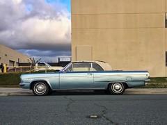 Ice Blue (misterbigidea) Tags: beauty urban streetview sidewalk blue olds vintage classic auto car parked hotwheels ragtop convertible cutlass oldsmobile 1963