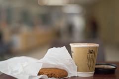 Between appointments (OzzRod) Tags: pentax k1 zenitarm50mmf17 зенитарм tabletop coffee biscuit corridor bokeh dailyinjanuary2020
