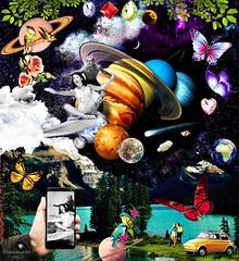 Art: Unforgettable moments. By Silviane Moon. (Silviane Moon) Tags: clouds nuvens surrealismo digitalcollage colagemdigital scifi ficçãocientífica galaxy star planets space universe surrealfantasy fantasy surrealism surrealistic artesurreal surrealart futuristic futurismo surf butterfly retro vintage silvianemoon