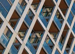 Blue balconies (jefvandenhoute) Tags: belgië belgium antwerpen nieuwzuid light lines shapes geometric urbangraphics