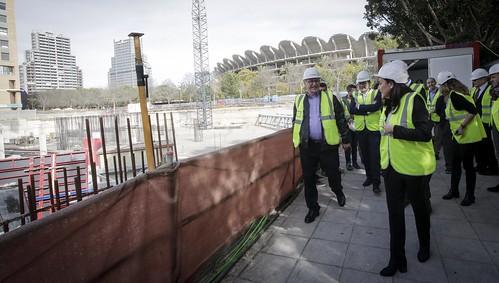 0129 Alcalde visita obres nou centre Vodafone València (2)