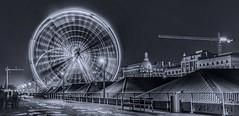 Antwerpen black and white photo (claudiadvries) Tags: antwerpen antwerp belgië belgium ferriswheel blackandwhite town city europe