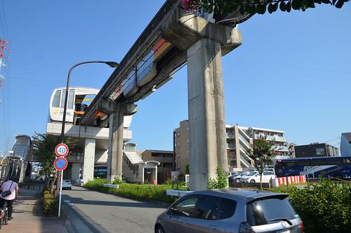 Tama Monorail Train Leaving Koshu-kaido Station 5