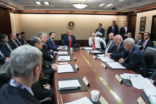President Trump Addresses a Briefing on by The White House, on Flickr