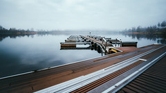 At the lake in the morning (HeiJoWa) Tags: sony a6000 alpha6000 samyang samyang12mmf2 weitwinkel manuallens nature water lake see natur wasser nebel fog mist clouds wolcken horizon steg pier saarland deutschland herrnergal losheim stausee