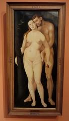 """Adam et Eve"", 1531, Hans Baldung Grien (1484-1543), Musée Thyssen-Bornemisza, paseo del Prado, Madrid, Castille, Espagne. (byb64) Tags: madrid мадрид испания кастилия castille vieillecastille castilla castillalavieja eu europe europa европа espagne espana espanha spain spagna spanien ue museothyssenbornemisza muséethyssenbornemisza thyssen thyssenbornemisza musée museum museo музей музейтиссенаборнемисы xvie cinquecento renaissance renacimiento rinascimento portrait retrato ritratto porträt 16th adameteve hansbaldunggrien"