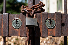 Master lock (Rudy Pilarski) Tags: serrure architecture architectura old ancien france francia rouillée vieux detail abstract abstrait abandonné europe europa