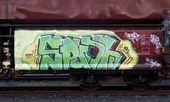 Graffiti on Freights (wojofoto) Tags: amsterdam nederland netherland vrachttrein cargotrain güterzug freighttraingraffiti freighttrain freights fr8 graffiti streetart wojofoto wolfgangjosten spunk