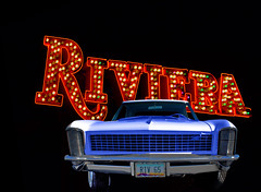 The Riviera (oybay©) Tags: neonmuseum neon museum lasvegas las vegas buick buickriviera riviera rotatingheadlights rotating headlights generalmotors gm streamlined design googie exciting color colors colorful car automobile