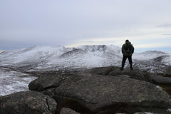 Lonely in Winter (steve_whitmarsh) Tags: aberdeenshire scotland landscape mountain hills cairngorms snow rocks nature ice winter rock stone scottishhighlands highlands conachcraig summit topic