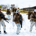 U.S. Marines conduct a patrol during exercise Northern Viper on Yausubetsu Training Area, Hokkaido, Japan