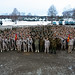 U.S. Marines, Japanese Soldiers conduct an opening ceremony for exercise Northern Viper on Yausubetsu Training Area