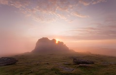 Misty Peek - H A Y T O R (Twogiantscoops) Tags: 1635mmf4 iplymouth otherworldly nature devonoutback moment lee dartmoor mist misty devon rockstacks photoshop dramatic sunrise inversion cloudscape landscape phenomenon haytor 5dmk2 leefoundationkit leefilters pastel cloudinversion pastelsunrise moors manfrotto dartmoornationalpark chrismarshall'simages twogiantscoops debut ndfilter chasingthelight dawn