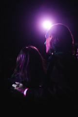 Nicole & Judd (Zack Huggins) Tags: pentaxk1 pentaxfalimited43mmf19 vscofilm pack01 dallastx oakclifftx texastheatre couple portrait availablelight lowlight highiso spotlight show behindthescreen livemusic silhouette backlight purple sweet romance rnifilms bokeh dof