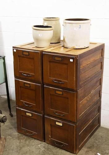 2 Oak Filing Cabinets ($324.80)