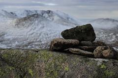 Summit of Conachcraig (steve_whitmarsh) Tags: aberdeenshire scotland landscape mountain hills cairngorms snow rocks nature ice winter rock stone scottishhighlands highlands conachcraig summit topic abigfave rockpaper