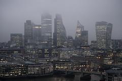City of London skyline (JMZ Photos) Tags: nikon nikkor 2470 f28 s z london city skyline z6 outside view fog foggy day tate modern river thames bridge street architecture