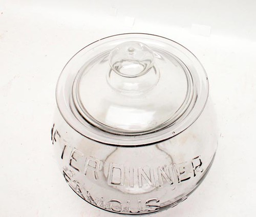 """After Dinner Famous Salted"" peanuts store jar ($224.00)"