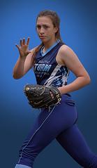 A Soft Baller (Scott 97006) Tags: girl sport softball uniform mitt player game