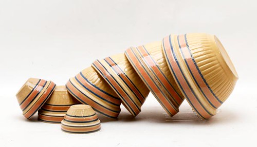 Yellowware Pink Stripe Mixing Bowl Set ($168.00)