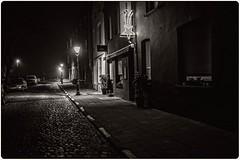 Antwerp By Night (Antwerpen - Lillo) (erik.verheyen) Tags: antwerpen lillo scheepsdokken shipssdocks bruggen bridges scheepskranen shipscrane steegjes alleys hetmas themas nachtfotografie nightphotography mist fog