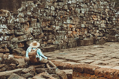 Mesmerized by the ruins of  Bayon Temple (ericmontalban) Tags: cambodia siemreap asia