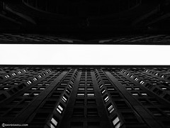 Slit (David Oakill) Tags: urban landscape extreme contrast vertical architecture slit building blackandwhite philadelphia city cityscape pennsylvania