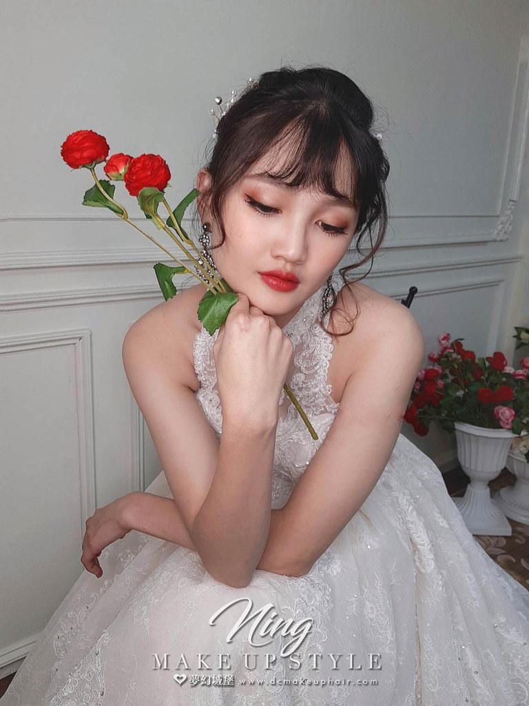 【新秘羽寧】新娘造型創作 / 典雅浪漫盤髮