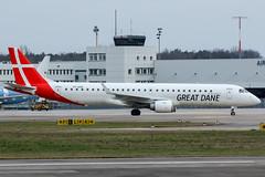 OY-GDB (PlanePixNase) Tags: aircraft airport planespotting haj eddv hannover langenhagen plane greatdane great dane embraer 190 e190