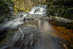 GRUMPY FACE (robdando) Tags: water waterfall wales breconbeacons nationalpark walk robdando landscape forest moss rocks fastmoving longexposure colours