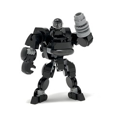 LEGO ModBot — Exosuit 2020 (Black Mono) (Alex Kelley) Tags: lego afol moc toy design industrial 3d plastic action figure bot bots robot robots mecha mech modern retro futuristic sci fi art creative product minifig minifigs minifigure minifigures collectable hobby designer concept droid