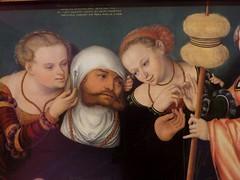 """Hercule à la cour d'Omplhale"", 1537, Hans Cranach (vers 1513-1537), Musée Thyssen-Bornemisza, paseo del Prado, Madrid, Castille, Espagne. (byb64) Tags: madrid мадрид испания кастилия castille vieillecastille castilla castillalavieja eu europe europa европа espagne espana espanha spain spagna spanien ue museothyssenbornemisza muséethyssenbornemisza thyssen thyssenbornemisza musée museum museo музей музейтиссенаборнемисы xvie cinquecento renaissance renacimiento rinascimento 16th hercule hercules omphale hanscranach"