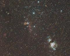 Orion's belt (seasonoftowers) Tags: astrophoto takumar135mmf25 takumar orion m43 m42 m78 flamenebula horseheadnebula orionsbelt dso deepsky pixinsight astrometrydotnet:id=nova3913497 astrometrydotnet:status=solved