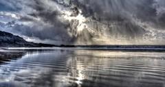 Under the pressure (pauldunn52) Tags: beach southerndown dun raven reflections storm sun wet sand glamorgan heritage coast wales
