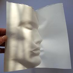 Wetfolded Paper Portrait
