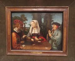 """Les joueurs de cartes"", vers 1520, Lucas de Leyde (vers 1494-1533), Musée Thyssen-Bornemisza, paseo del Prado, Madrid, Castille, Espagne. (byb64) Tags: madrid мадрид испания кастилия castille vieillecastille castilla castillalavieja eu europe europa европа espagne espana espanha spain spagna spanien ue museothyssenbornemisza muséethyssenbornemisza thyssen thyssenbornemisza musée museum museo музей музейтиссенаборнемисы xvie cinquecento renaissance renacimiento rinascimento 16th joueursdecartes cardplayers lucasvanleyden lucasdeleyde"
