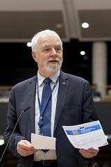 Jan Olbrycht na sesji plenarnej PE w Brukseli