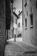 Tiny Alley (Robycrux) Tags: white black planet happy high shape destinations asia art travel inspiration creative creativity photo viajes artistic culture knowledge life lifes streetphotography capture time shot street vintage old style fashion lonely alley roads empty night daily moderno urbano massive around modern urban public places lines geometriy perspective prospettive point view italy imola tiny emilia romagna bologna